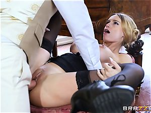 sumptuous Maid Erica Fontes drills in her scorching uniform