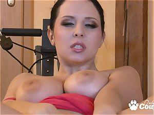 big globes Angela Dabola fingering her vag