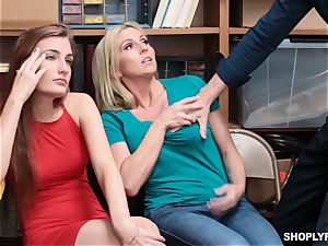 Christie Stevens and Nina Nirvana nailed by security guard