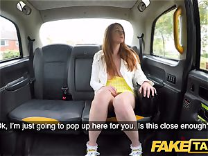 fake cab mischievous ginger-haired beauty in filthy pound