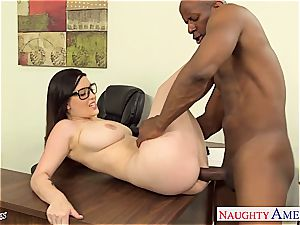 Noelle Easton anxious for his dark-hued penis to nail her rock hard