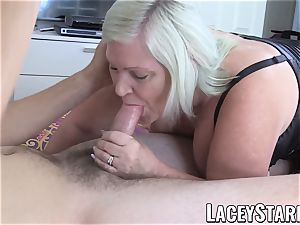 LACEYSTARR - grandmother dickblower riding for creampie