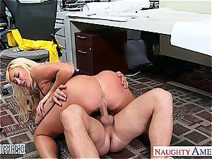 superb office honey Summer Brielle gets smashed
