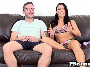 webcam bombshell Megan Rain orgasms on manhood