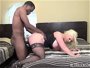 insane Alura Jenson gets a immense black pink cigar tucked in her taut cooch