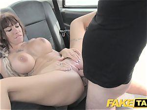 fake cab Spanish bosoms and english giant hard-on