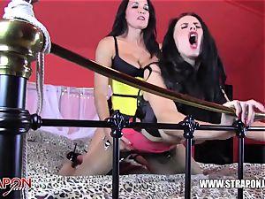 belt dick femdom slurps screws huge-boobed mummy mega-slut backside honeypot