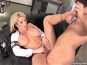 garrulous Brooke Haven gets plowed up her pink gash