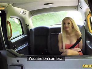 fake cab super-hot blondie drills fresh cabbie