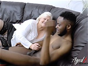 AgedLovE Lacey Starr gets multiracial xxx
