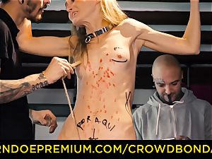 CROWD restrain bondage puny victim nymphomaniac fetish group lovemaking