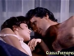 big-titted female gets plumbed hard in retro porn