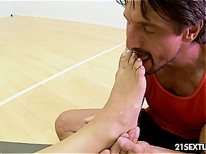 trendy Capri Cavanni gets a work out boinking doggy style