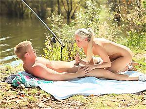 Outdoor gash fervor with Jenna Simons