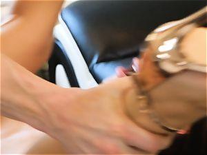 Lana Rhoades glides that rock-hard cock into her torrid minge