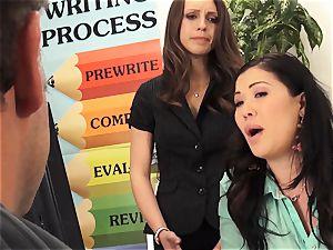 teachers London Keyes and Jade Nile tear up a schoolgirls daddy
