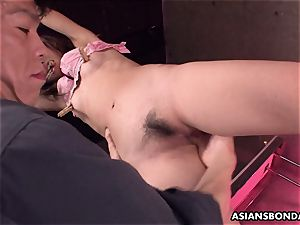 squealing asian mega-slut getting her drenching raw snatch toyed