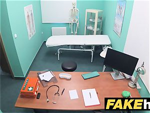 fake medical center rest room room oral pleasure and ravaging