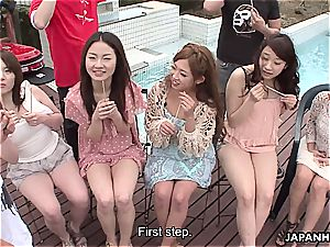 Asians are getting their wet cunts fingerblasted real deep