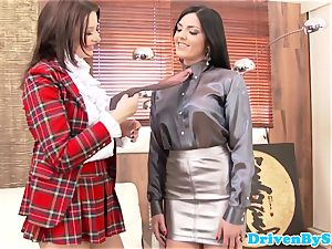 Rich glam lesbian assfingered and pussylicked