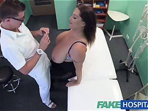 FakeHospital honey wants cum all over her phat massive melons