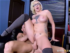 Dean Johnny Sins holds a hump education lesson with a lewd student