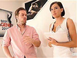 unsheathed casting - hard-core audition screw with big-titted babe