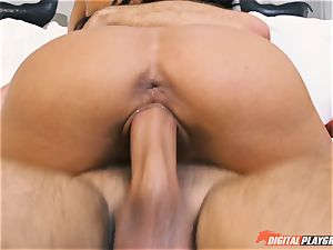 Adriana Chechik deep-throating impressive act