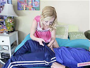 Molly Manson railing her pals dads weenie