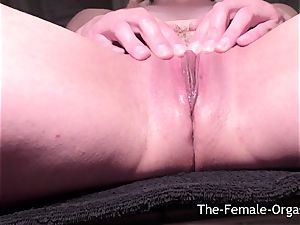 dripping wet labia Selfie Bating to multiple ejaculations