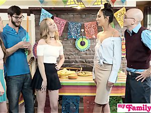 StepSis And BFF Sneak screw At Cinco De mayo party S2:E5