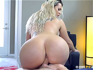 Smoking super hot ash-blonde with a enormous ass railing on top of Danny D