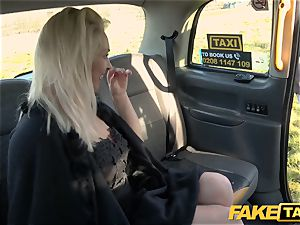 fake taxi towheaded cougar Victoria Summers plowed in a cab