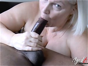 AgedLovE Lacey Starr hard-core multiracial plow