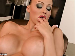 sultry Aletta Ocean couldn't wait to work on her antsy slits for one scorching ejaculation