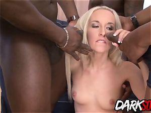 Lots of black cocks vs Jenny's asshole