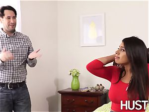 super steamy stepsis Ella Knox arched over and romped rock hard