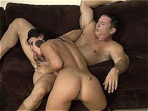 Charley chase is the dominatrix of tough railing