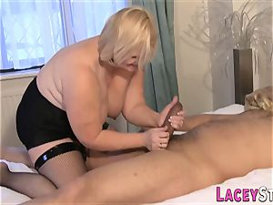 Lacey Starr Gets pummeled in super-sexy dark-hued pantyhose