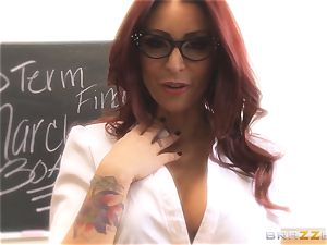 Mick Blue fantasizing in class about his teacher Madison Ivy