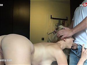 My messy pastime - ash-blonde stunner gets torn up and creamed
