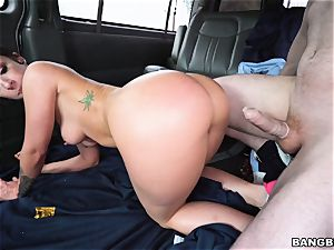 Jada Stevens torn up on the Bangbus