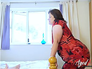 AgedLovE huge-boobed Mature xxx fellate and pulverize