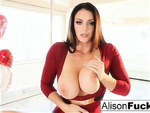 Alison Tyler celebrates Valentine's Day by draining