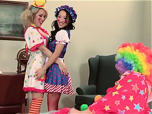 red-hot spies Asa Akira and Capri Cavanni clowning around