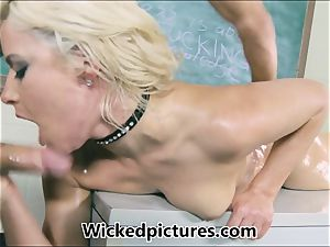 Anikka Albrite greased and boned by her marvelous instructor
